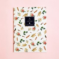 Watercolor Spring Flowers Ruled/Lined Notebook - Large Size
