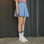 Denim flared skirt