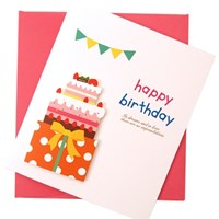 메세지카드 선물케익-해피