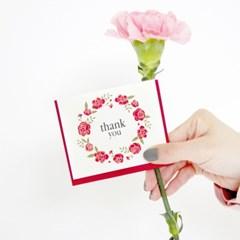 플라워리스 감사카드 flower wreath card