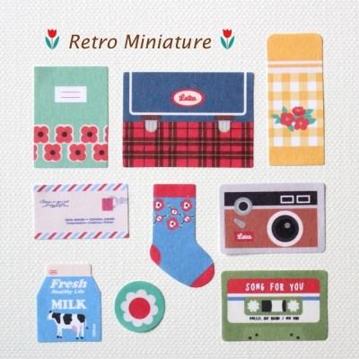 DECO STICKER-Retro Miniature