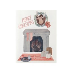 [Red Cap Cards] Christmas Fireplace
