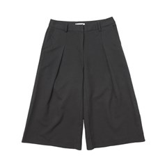 [DE WHITE] WIDE SLACKS PANTS (BLACK)