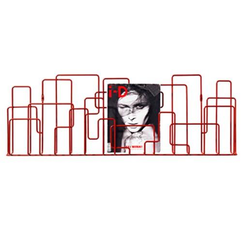 City Sunday 벽걸이형 매거진랙 - Red
