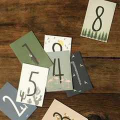Number post card