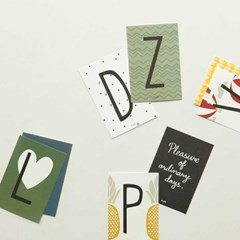 Alphabet post card