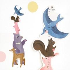코니테일 키재기 포스터 - 동물친구들 (키재기 포스터)