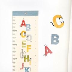 코니테일 키재기 포스터 - 알파벳 (키재기 포스터)