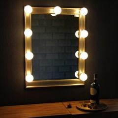 벨로 샴페인골드 조명거울