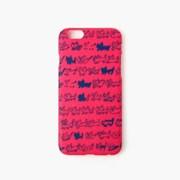 [아이폰6/6S] AIUEO iPhone Case Fabric - NEKO BORDER PK