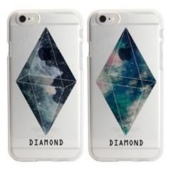 'JJU' 문구제작 DIAMOND SPACE SOFT CASE