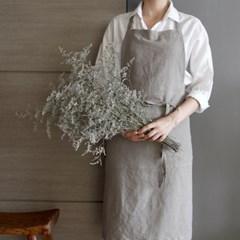 린 무지 앞치마 beige gray