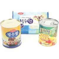 팥빙수 850g_세트모음 (빙수팥+빙수떡+후르츠칵테일+시럽)