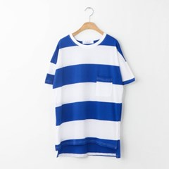 one pocket stripe T-shirt