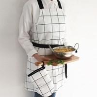 모스체크 앞치마+오븐장갑 세트