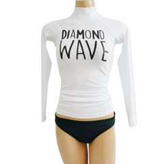 [AW]AWAVE RASHGUARD DIAMOND WHITE
