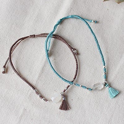 꼬임 매듭 원석 팔찌(2colors) twist knot gems bracelet