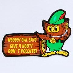 레이싱 스티커-WOODSY OWL SAYS