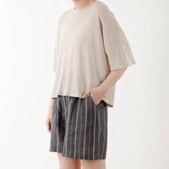 linen round T-shirt
