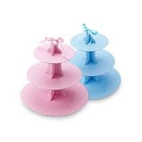 컵케이크스탠드(원형/블루&핑크) no.A0038328