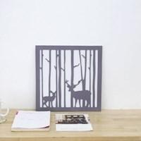 내츄럴 숲속의 사슴 양각 포스터 액자-M사이즈
