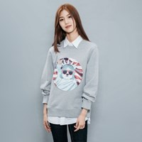 USA DOG PATCH SWEAT SHIRT