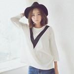 브이절개 티셔츠 * 2c