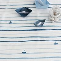 NSCR/ 1마/ 7월달력] Stamp blue sea pattern cotton
