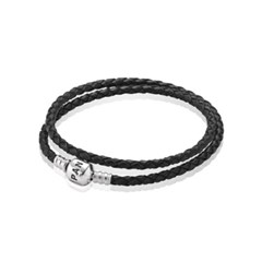 판도라 590705CBK-D / PANDORA DOUBLE LEATHER BANGLE_(272273)
