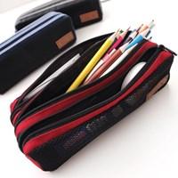 Three-Zip Pencil Case