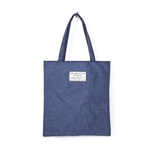 Rlovestyle 린넨 에코백- d.gray/gray/ivory/blue