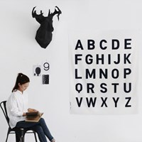 NS/ 1컷/ 2마 빅사이즈] Simple Mono The Alphabet Big Cut Linen