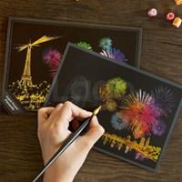 스크래치 엽서 불꽃축제_Scratch PostCard Fireworks