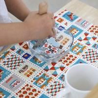 내츄럴 리버시블 워싱 린넨 플레이스 매트-유러피안 패턴