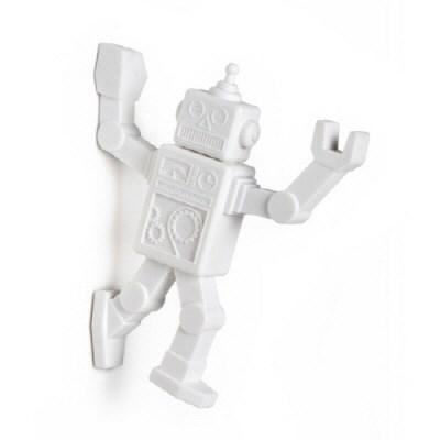 벨렉 디자인(Peleg Design) 화이트 로봇 냉장고 자석 후크걸이