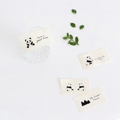 [Deco]Charming Panda cotton Label