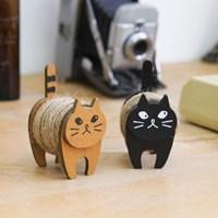 내츄럴 끈과 고양이 우드 보빈