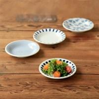 니코트 블루 에가와리 접시 4P 세트