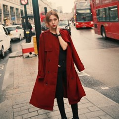 Daily long slit trench coat