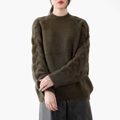 raglan cable knit top