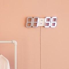 화이트 LED 벽시계