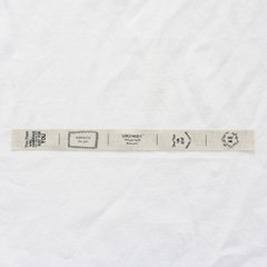 [Deco] Pouch Cut Text Linen Label