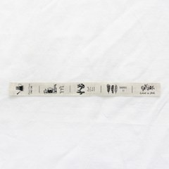[Deco]Pouch Cut illust Linen Label