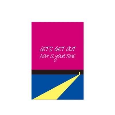 Postcard-Let's get out