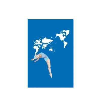 Postcard-swimming