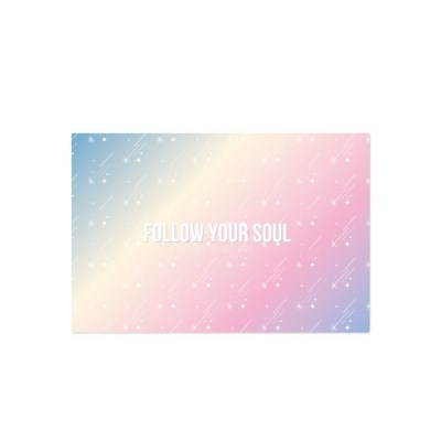 Postcard-follow your soul