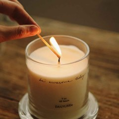 Dome glass candle