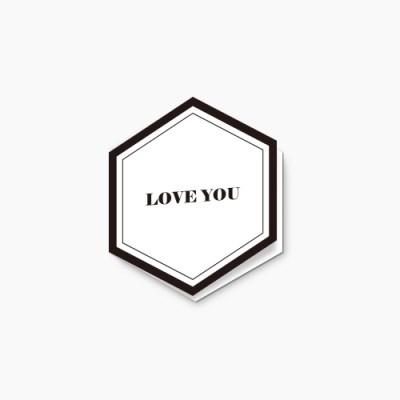 Love you hexagon card