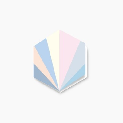 Pastel section hexagon card