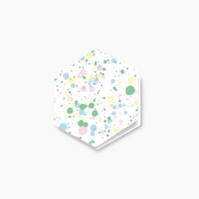 Color drop hexagon card